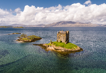 Castle Stalker near Port Appin - see something uniquely Scottish on your Scottish Golf Tour