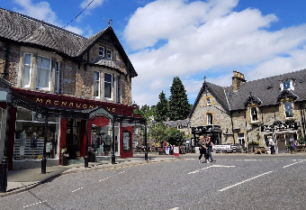 MacNaughtons of Pitlochry, one of Scotlands oldest retail establishments. A must-see on your golf package Scotland